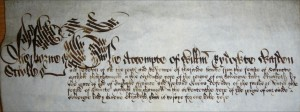 William Rydeowte's account roll for Sherborne School 1574-5