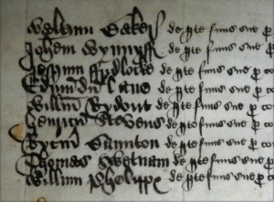 William Rydeowte's account roll for Sherborne Almshouse 1578