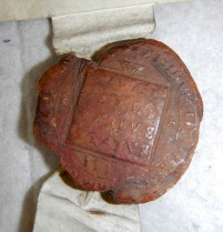 Wax seal of Sherborne School